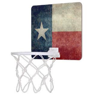 Texas state flag vintage Mini Basketball Hoop