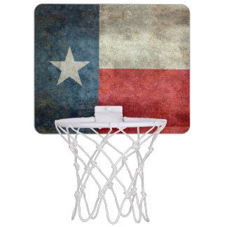Texas state flag vintage retro basket ball hoop
