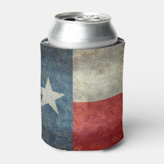 Texas state flag vintage retro style Can Cooler