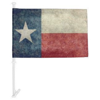 Texas state flag vintage retro style Car Flags