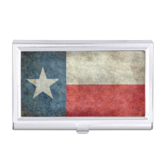Texas state flag vintage retro style card holder