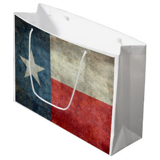 Texas state flag vintage retro style Gift  Bags Large Gift Bag