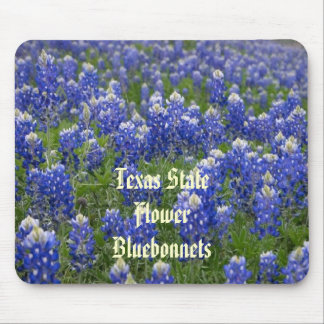 Texas State Flower Bluebonnets Mousepad