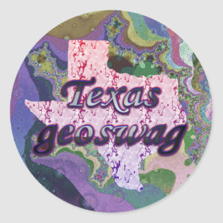 Texas State Geocaching Supplies Stickers Geoswag