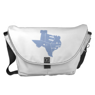 Texas State Map Serenity Lettering Messenger Bag