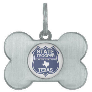 Texas State Trooper To Protect And Serve Pet Tag