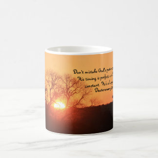 Texas Sunrise, Scripture Quote from Deuteronomy Coffee Mug