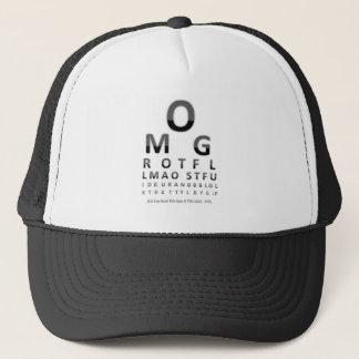 Text Addict's Eye Chart Trucker Hat