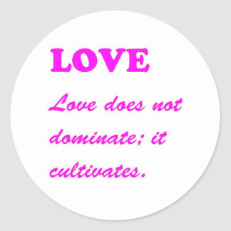 text LOVE Romance Sensual Pure Hearts LOWPRICES Classic Round Sticker