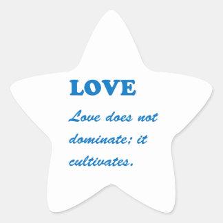 Text LOVE: Romance Soul Spiritual Life Partner Hap Star Sticker