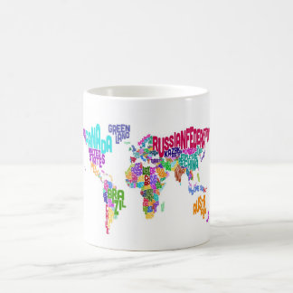 World map in words coffee travel mugs zazzle text map of the world map coffee mug gumiabroncs Image collections