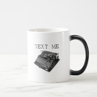 Text Me Antique Typewriter illustration Morphing Mug