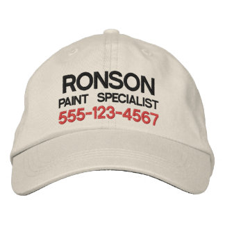 Text only business promotional marketing employee baseball cap