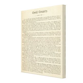 Text Page Cecil County Canvas Print
