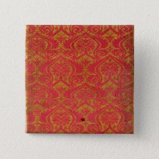 Textile fragment, 14th/15th century 15 cm square badge