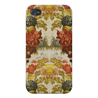 Textile with a repeating floral pattern iPhone 4 cover