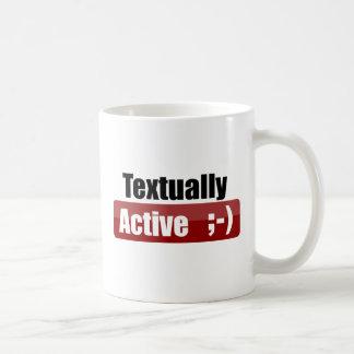 Textually Active Basic White Mug
