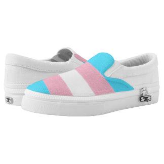 Texture-applied Transgender Pride Flag Design Printed Shoes