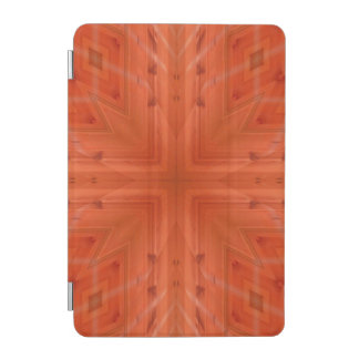 Texture orange wood pattern iPad mini cover