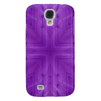 Texture Purple wood pattern Galaxy S4 Case