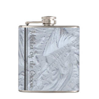 Textured Glass MOTHER OF THE GROOM Flask
