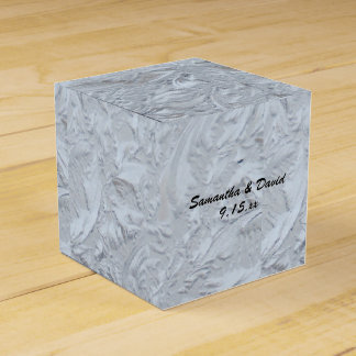 Textured Glass Personalized Wedding Party Favour Boxes