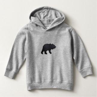 Textured Grey Bear Hoodie