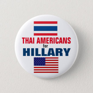 Thai Americans for Hillary 2016 6 Cm Round Badge