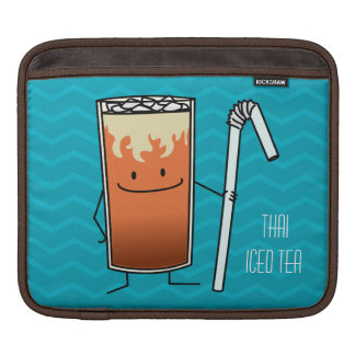 Thai Iced Tea & Bendy Straw Happy Drink Thailand iPad Sleeve