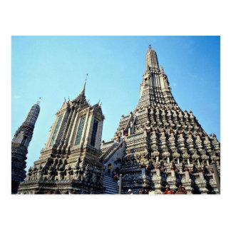 Thai temple in Bangkok, Thailand Postcard