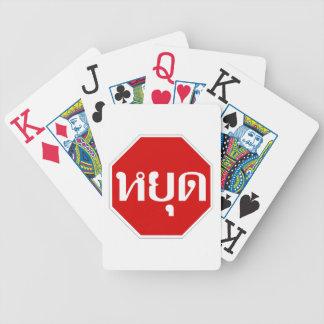 Thai Traffic STOP Sign ⚠ YOOT in Thai Language ⚠ Poker Deck