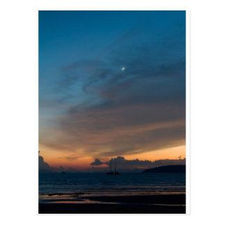 Thailand - Karbi sunset Postcard