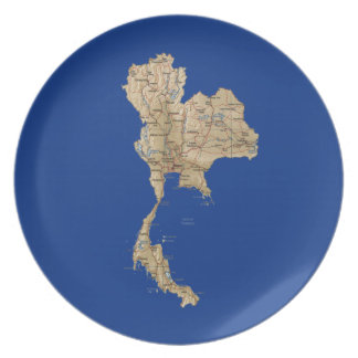Thailand Map Plate