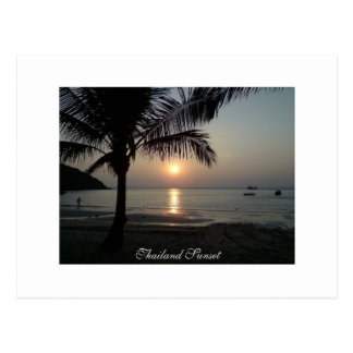 Thailand, Sunset - Postcard