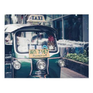 Thailand  traditional transportation tuk tuk postcard