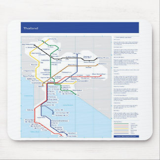 Thailand tube map mouse mat
