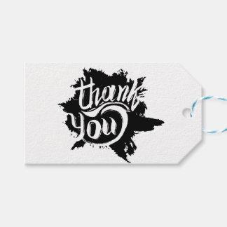 Thank You Black & White Paint Splat Gift Wedding Gift Tags