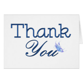 Thank you Blue Butterfly Greeting Card