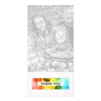 thank you (bokeh) personalized photo card