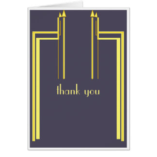 thank you card art deco style