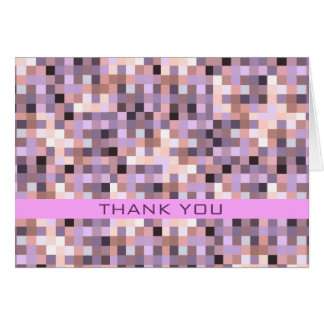 Thank You Card Purple Pink Pixelation