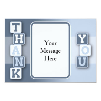 Thank You Card with Text Frame