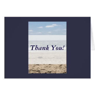 Thank You Cards Beach Scene w/Envelope