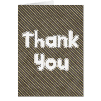 Thank You Chalkboard Stripe Pattern Blank Card