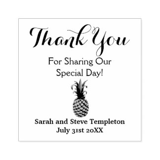 Thank You Custom Pineapple Wedding  Rubber Stamp