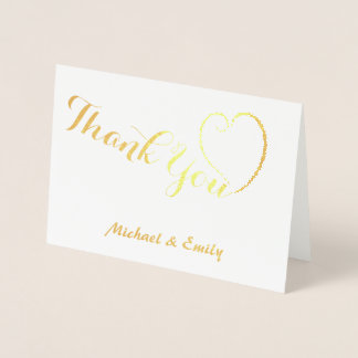 Thank you cute heart card personalised