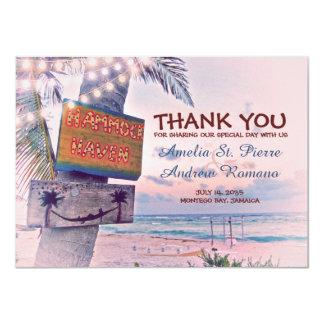 Thank You Destination Beach Wedding Card