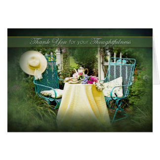 THANK YOU -  ENGLISH COTTAGE GARDEN GREETING CARD