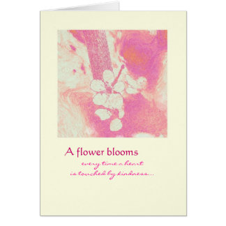 Thank you - Flower Blooms Card