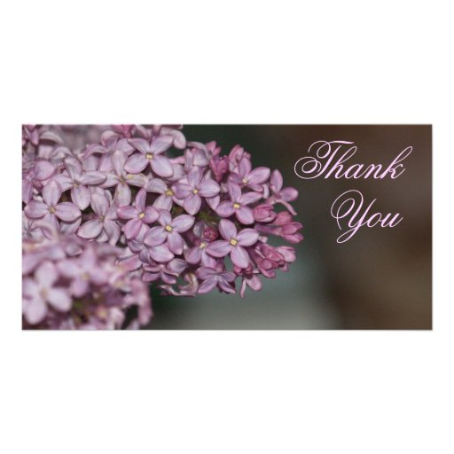 Thank You Flowers Customized Photo Card